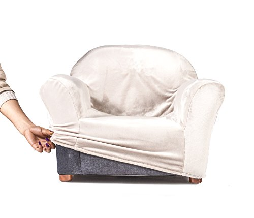 keet roundy kids chair cover only, 9 colors available (khaki)