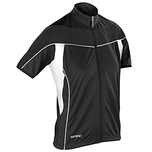 Spiro Ladies Bikewear 1/4 Zip Top Black/black