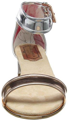 Ted Baker Women's Ruz Open-Toe Sandals Multicolour (Silver/Rose Gold) fqajsm7Xel