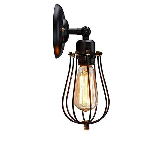 HJL Led Wall Light,240° Adjustable Industrial Oil Surface Bronze Wall Lamp Living Room Bedroom Corridor Decorative Lights