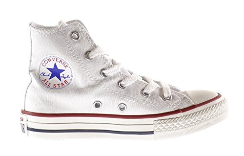 Converse Chuck Taylor Core HI Little Kids Shoes Optical White 3j253 (3 M US) Converse High Tops Girls