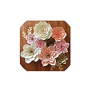 Wild-World DECOR DIY Paper Flowers Wall Decorations Children Photo Background Artificial Flower for Wedding Favors and Gifts Paper Flowers 2