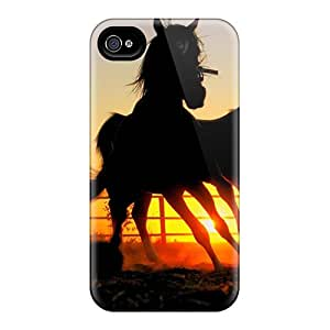 New Premium SilenceBeauty Horse Wallpaper Dark Horse Skin Case Cover Excellent Fitted For Iphone 4/4s