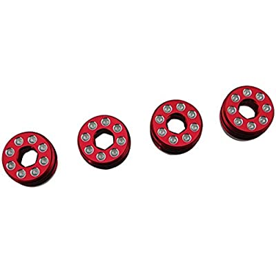 Hot Racing AON21N02 Aluminum Delrin Cap Hub Nut with O-Ring Red Arrma 1/8: Toys & Games