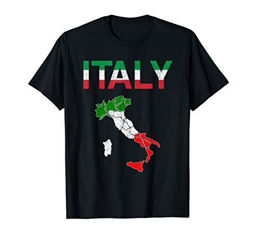 (Italy Flag Vintage Italian T shirt Italia for men women kids)