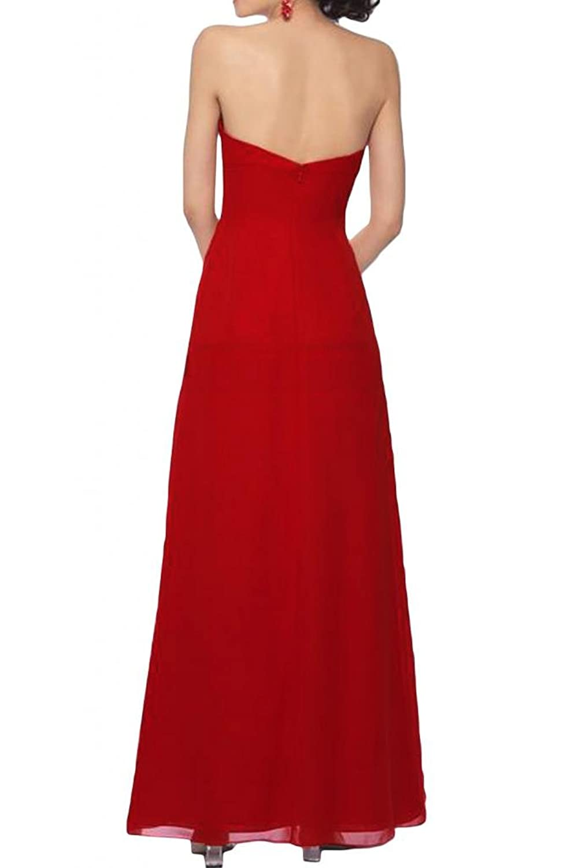 Gorgeous Bride Sweetheart Chiffon Long Prom Dress Ruffles Empire Waist