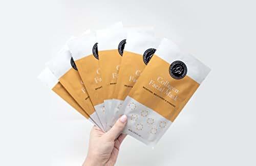 Full Face Essence Facial Sheet Masks by Grace & Stella Co. (Collagen)