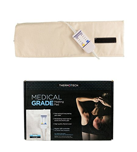 Thermotech  Automatic Digital Moist Heating Pad Heating Pad, Beige, Small (19 x 7 Inches) by Thermotech