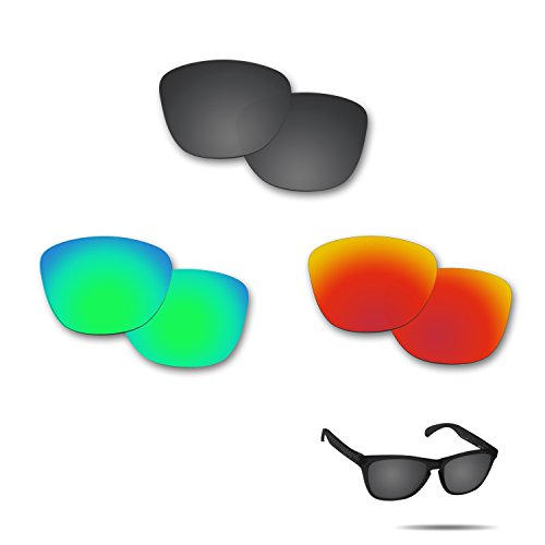 Fiskr Anti-saltwater Polarized Replacement Lenses for Oakley Frogskins Sunglasses 3 Pair - Frogskin Polarized