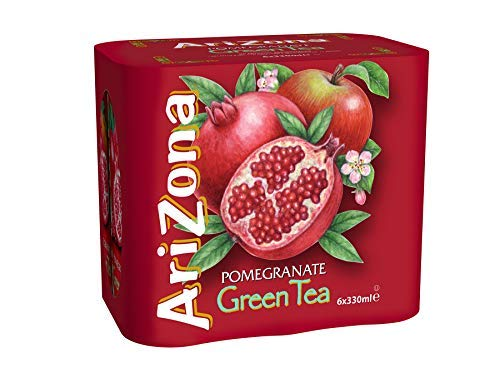 Aroma de granada de te verde de Arizona - 6 x 330 ml