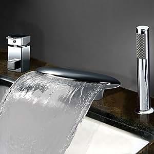 Generic-grifo de bañera de la cascada contemporáneo de la ducha de mano Rociador lateral // incluido acero inoxidable, de alta calidad