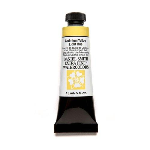 DANIEL SMITH Extra Fine Watercolor 15ml Paint Tube, Cadmium Yellow Light - Colors Cadmium Yellow Light