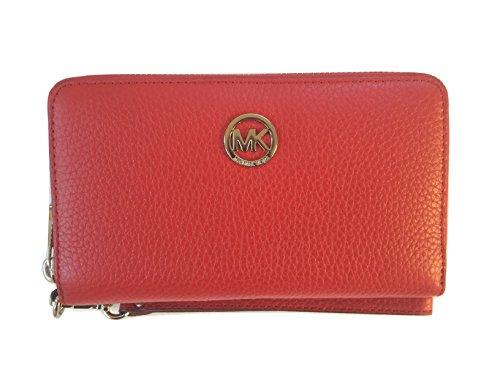 Michael Kors Fulton Large Flat Multifunction Leather Phone Case Wristlet, - Clear Michael Kors Handbag