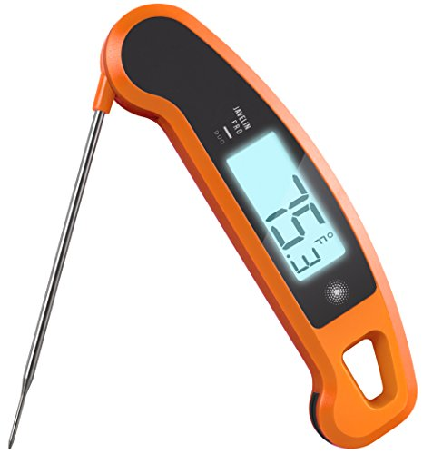 - Lavatools Javelin PRO Duo Ambidextrous Backlit Instant Read Digital Meat Thermometer (Orange)
