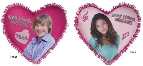High School Musical Heart-shaped Troy & Vanessa Decorative Pillow [並行輸入品] B07R833C3D