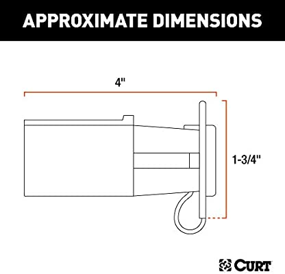 Curt 57245 7 Way Rv Blade Vehicle Side To 4 Way Flat Trailer Wiring Adapter With Tester
