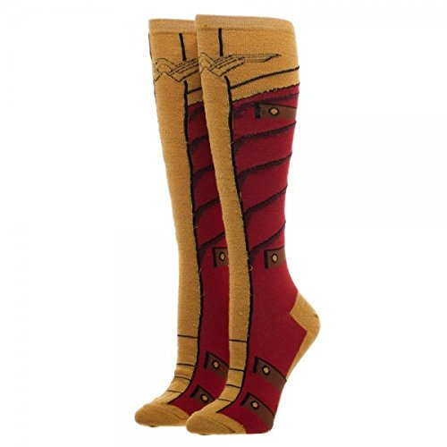 9131194d06a Image Unavailable. Image not available for. Color  DC COMICS WONDER WOMAN  Warrior Knee High Girl Socks ...