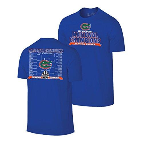 Series College Tee World - Florida Gators 2017 College World Series CWS Baseball Champions T-Shirt (M)