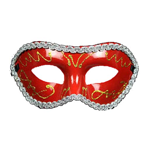 Mardi Gras Party - Halloween Carnaval Mask Sexy Men Women Costume Prom Venetian Mardi Gras Party Dance Masquerade Ball - Bundle Masquerade Favors Crackers Scene Hats Paper Ideas Cups Swirl