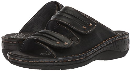 Pictures of Propet Women's June Slide Sandal Black 9 Wide US WSO001L 4