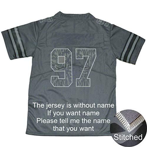 yicana Grey Ohio State Jersey Stitched Camo #97 Without Name (Medium)