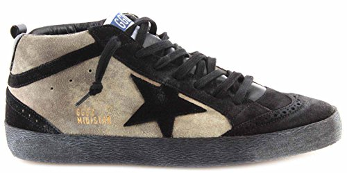 Golden Goose Scarpe Sneakers Uomo Mid/Star Camouflage Suede Black Star Italy New