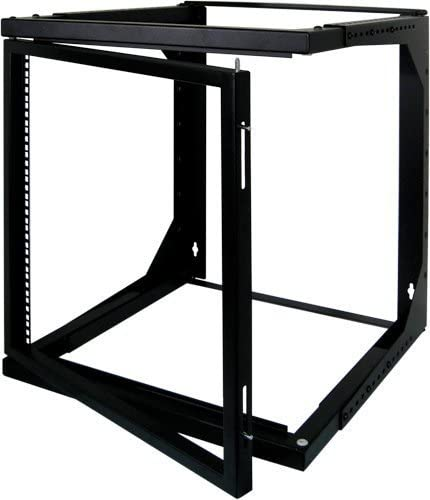 Vertical Cable Data Rackmount 8U Open Wall Mount Frame Rack with Hinge