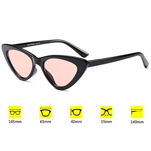 Gafas Chic Hzjundasi Mujer Moda sol Mod C5 Eyewear Eye de Super Retro Triangle Cat Vintage rB10ET1fF