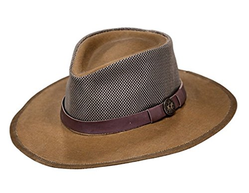 Outback Trading Co Men's Co. Oilskin Kodiak With Mesh Hat Tan X-Large