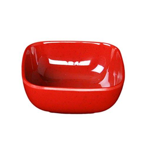 Thunder Group PS3103RD Red 5 Ounce Square Melamine Bowl - Dozen