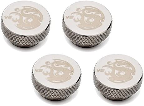 Bitspower G1//4 Low-Profile Stop Fitting V2 Deluxe White 2-Pack