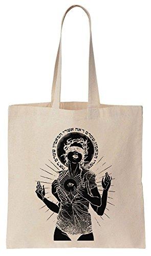 Compras Bolsos Girl Reutilizables de ILLUMINATI The de Bag Eye Tote Algodón Art OwqapU