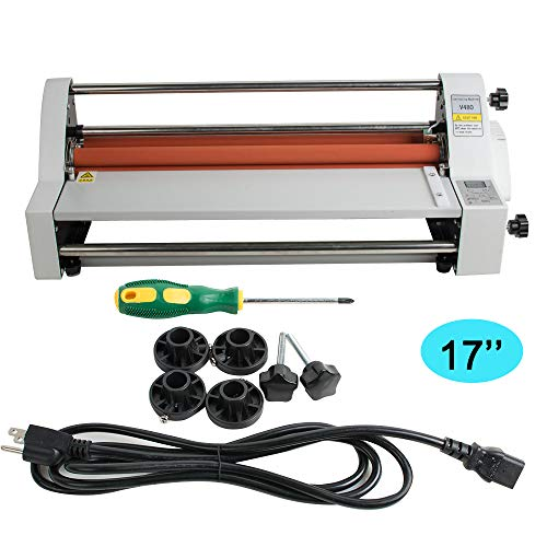 (Zinnor Hot Cold Roll Laminator, 17'' Single&Dual Sided Laminating Machine for Home Use, Office, School (Speed - 1.1m/min))