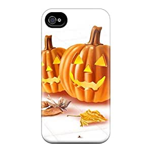 New Fashionable Jasoates IdUpASE893AJVGc Cover Case Specially Made For Iphone 4/4s(pumpkins)