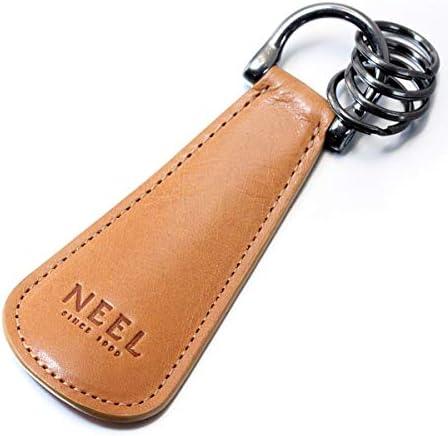 NEEL オリジナル 靴べら 携帯 シューホーン キーホルダー イタリアンレザー ナチュラル