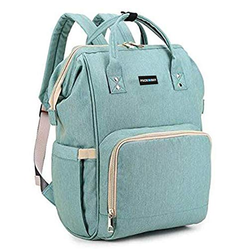 PACKNBUY Stylish Babies Diaper Bags for Mothers Travel Maternity Baby Bag Backpack Green