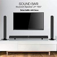 Meele TV Barra de Sonido Altavoces estéreo Bluetooth inalámbrico Barra Sonido Estilo Tela Alta fidelidad Envolvente 3D Soporte RAC AUX HDMI para el televisor de Cine en casa,Negro: Amazon.es: Hogar