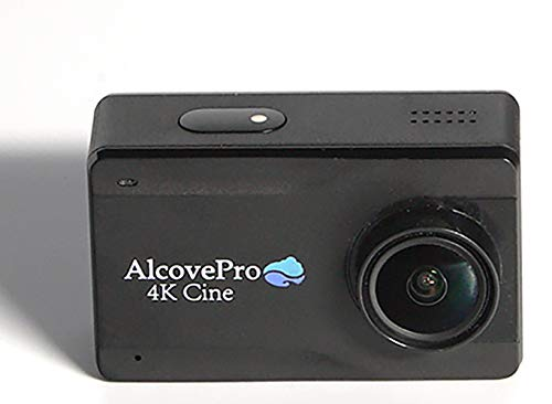AlcovePro 4K Cine Waterproof Action Camera UHD Video and 12MP Photos - Slow Motion WiFi Sports Cam with Huge 2.45 Inch Touchscreen and Accessories