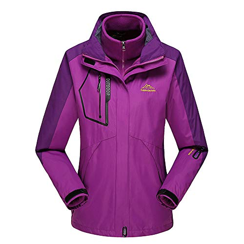 Thick Chart Hooded Sleeve 1 Men Jacket Jerkins Wind Warm Zip Check Outwear for in Long Coat Winter ESAILQ Size Mens Third Fleece purple Image please XCw0qxAwF