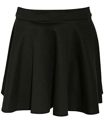 Pilot Women's Ellie Scuba Skater Skirt (2, Black)