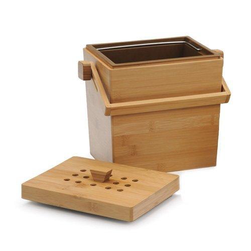 (RSVP 4.5 Quart Square Bamboo Compost)