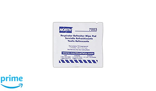 Honeywell 7003-H5 North N7003 Respirator Refresher Wipe Pads, White (Pack of 100): Amazon.com: Industrial & Scientific