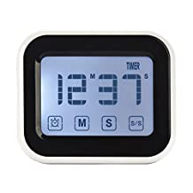 Tekury Digital Kitchen Timer with Big Touchscreen Magnetic Countdown Time Timer for Cooking, BBQ, Kids, Game