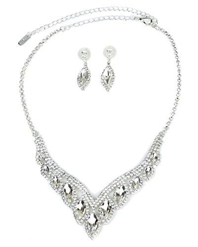 - Lux Accessories Lux Bridal Crystal Pave Rhinestone Drop Earrings
