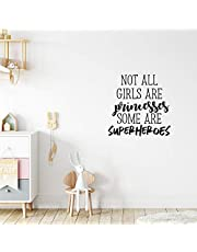 """Vinyl Wall Art Decal - Not All Girls are Princesses Some are Superheroes - 23"""" x 23"""" - Modern Inspirational Little Girl's Toddlers Teens Home Apartment Living Room Bedroom Dorm Room Decoration"""