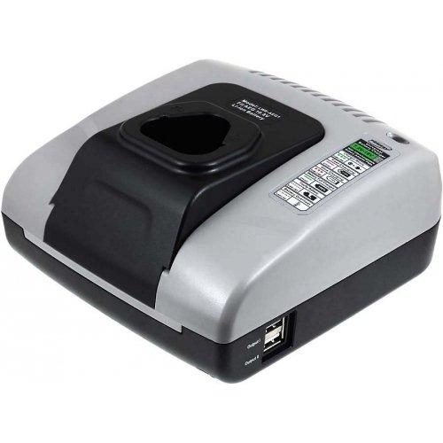 Powery Cargador de baterí a con USB para AEG Modelo L1215R 4052993454823-AL