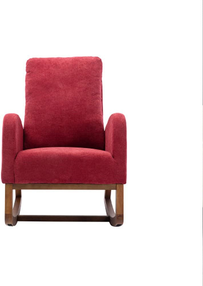 Living Room Comfortable Rocking Chair Living Room Chair Red