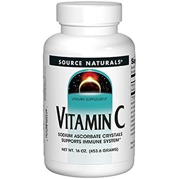 Source Naturals Vitamin C Sodium Ascorbate Crystals, Supports Immune System, 16 Ounces