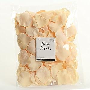 Koyal Wholesale 200-Pack Silk Rose Petals, Ivory 88