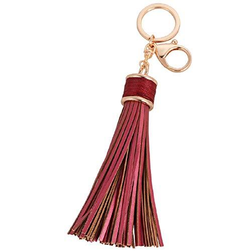 - Lzz Women's Fashion Leather Tassel Keychain Car Keychain Lobster Buckle Ladies Handbag Wallet Accessories Key Ring Pendant Ornaments